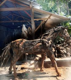 Driftwood, Lion Sculpture, Statue, Crafts, Art, Art Background, Manualidades, Kunst, Handmade Crafts