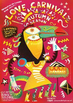 Lee Hodges Illustration - Love Carnival Posters Carnival Posters, Minimal Poster, Band Posters, Art Direction, Photo Booth, Vector Art, Creative Design, Illustration Art, Graphic Design