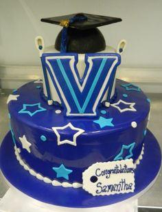2-tier cake topped with a graduation cap...VILLANOVA (via Carlo's Bakery)