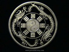 Large Chinese Medallion - Double Dragons