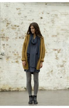 saffron and layers of gray. and a little reinforcement that maybe black ankle boots are all i really need.
