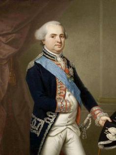 Prince Louis Stanislas de France, Comte de Provence (1755-1824), Régent de France au nom de Louis XVII; portrait de 1790.