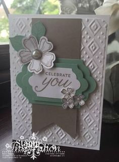 Stampin Up Birthday Blossoms, Celebrate You, Pansy Punch, Lots of Labels Framelit
