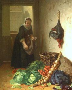 Johannes Engel Masurel, In the Kitchen, 1866