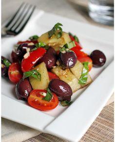 Grilled Salmon & Cucumber + Tomato Salad