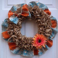 Excited to share the latest addition to my #etsy shop: Spring Wreaths for Front Door /Spring Burlap Wreath/ Front Door Wreath/ Door Wreaths/Summer Burlap Wreath/Burlap Wreaths/Housewarming #springwreath #burlapwreath #frontdoorwreath