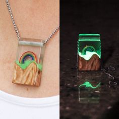 A necklace made of light! Both Literally and figuratively! This beautiful necklace was designed as a celebration of the beauty of colour and light.