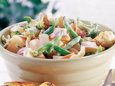 Healthified Broccoli-Ranch Potato Salad! Can't wait to try this one, only 3 Pts+ WW for 1 cup!