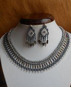 Ensemble collier « Queue de cochon », bijoux en perles, Collier perles,  collier