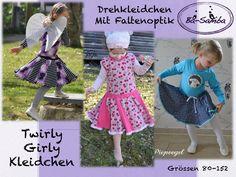 Nähanleitungen Kind - Twirly Girly - Drehkleidchen (Ebookerweiterung) - ein Designerstück von Barbara658 bei DaWanda