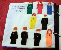 Harry Potter quiet book counting page - Count the people in the Weasley family. Oh my gosh, I love it.