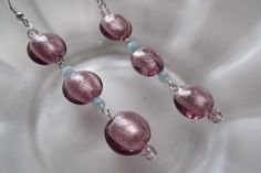 Purple and Blue Lampwork and Czech Glass Dangle by EgeriasWell, $17.00