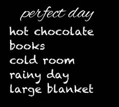 Today is the day & hot chocolate sounds so good