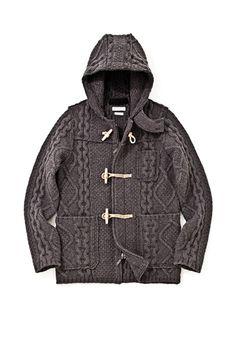 Merino wool Duffel Cardigan Hoody