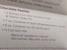 Nature's Bounty chocolate peach protein shake (but I'd def try it with vanilla mix)