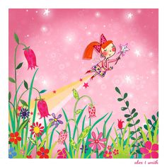 Alex T. Smith: Something glittery and girly for a Friday morning. Flower Fairies, Flower Art, Angel Illustration, Cute Fairy, Drawing For Kids, Children Drawing, Sketchbook Pages, Star Art, Tooth Fairy