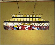 Meyda Tiffany 27615 Stained Glass / Tiffany Island / Billiard Fixture from the B Tiffany Glass Indoor Lighting Chandeliers