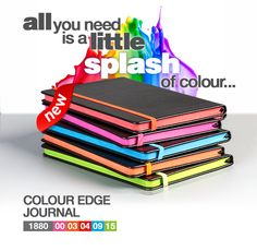 Colour Edge Notebook – Bell Jar Pty Ltd Rugby Gear, South African Rugby, The Bell Jar, Green And Gold, Color Splash, Notebook, Colour, Gifts, Color