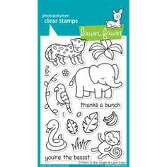 Clear Stamps Critters In The Jungle | Lawn Fawn