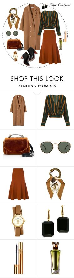 """05.10.2017"" by olgacontrast on Polyvore featuring мода, Maje, Ray-Ban, Joseph, Hermès, Tory Burch, Joan Hornig, Yves Saint Laurent и Cartier"