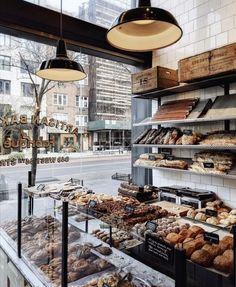 Bakery Shop Design, Bar Restaurant Design, Café Restaurant, Coffee Shop Design, Nyc Coffee Shop, Coffee Shops Ideas, Design Café, Cafe Design, Coffee Shop Aesthetic
