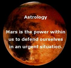 Mars is the power within us to defend ourselves in an urgent situation, which includes fighting. Learn more http://www.vedicartandscience.com/free-vedic-astrology-lesson-planets-mars/
