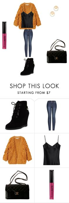 """First outfit"" by jassyedrington on Polyvore featuring MICHAEL Michael Kors, 2LUV, MANGO, Galvan, Chanel, Rimmel and Madewell"