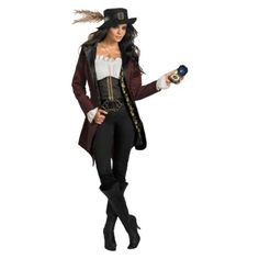 This could totally pass for Captain Morgan! Womens Pirates of the Caribbean - Angelica Prestige Costume