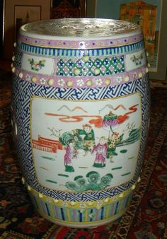 Chinese Porcelain Garden Seat. 19th Century. Chinese GardenJapanese  PorcelainGarden StoolsGarden ...