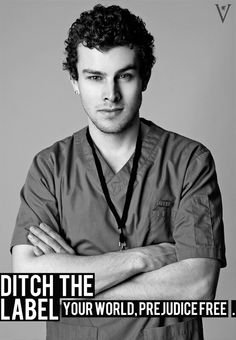 """Male nurse, from """"Ditch the Label"""" UK anti-bullying charity."""
