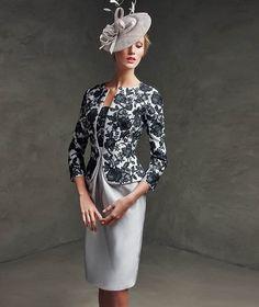 Φόρεμα δεξίωσης από μετάξι mikado και δαντέλα