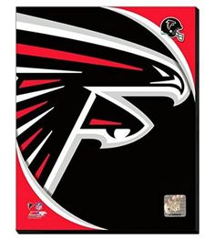 Atlanta Falcons Team Logo Canvas Framed Over With 2 Inches Stretcher Bars-Ready To Hang- Awesome & Beautiful