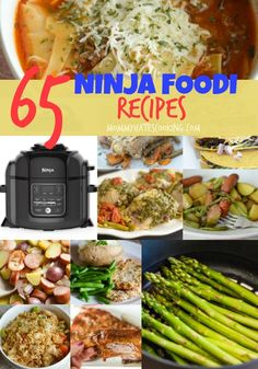 ready for some recipes for the Ninja Foodi? It's an all-in-one appliance and I guarantee you will soon find that easy dinners can be made in minutes with the Ninja Foodi. These 65 Ninja Foodi Recipes will help you get started with your Ninja Foodi! Healthy Crockpot Recipes, Gourmet Recipes, Cooking Recipes, Healthy Steak, Cooking Cake, Crockpot Meals, Grilling Recipes, Cooking For One, Easy Cooking