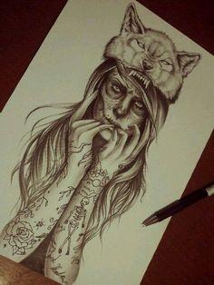 Wolf Girl by Eirikiss.deviantart.com on @deviantART                                                                                                                                                                                 More