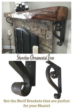 Mantel Brackets Should Give Your A WOW FactorThese Iron Angle Are Handmade And Beautifully Hand Finished Ready For Installation