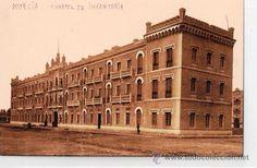 TARJETA POSTAL DE MURCIA. Nº 17. CUARTEL DE INFANTERIA DE JAIME EL CONQUISTADOR. L. ROISIN. (Postales - España - Murcia Antigua (hasta 1.939))