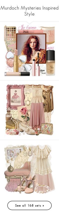 """Murdoch Mysteries Inspired Style"" by yours-styling-best-friend ❤ liked on Polyvore featuring beauty, Too Faced Cosmetics, Astley Clarke, Monsoon, MOOD, Georg Jensen, Blue Nile, Alexis Bittar, OROBLU and Coast"