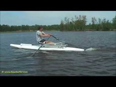 Rowing with the RowSurfer on a Stand Up Paddle (SUP) race board, a 14' Naish Glide Javelin (2:42).