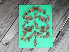 """My 4-year-old daughter LOVED making these pictures. http://www.kiwicrate.com/projects/Leaf-Glitter/2292: Leaf """"Glitter"""""""