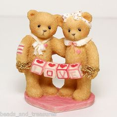 Cherished Teddies 203076 Love Bears with Love Letters Figurine