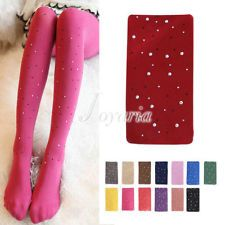 €3.08 Woman Sexy Opaque Bling Crystal Rhinestone Pantyhose Tights Stockings (PINK) FREE SHIPPING!