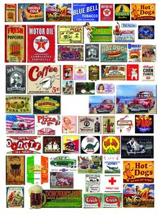 1: 18 1:24 G SCALE VINTAGE SIGNS #1 DECALS FOR DIECAST, DOLLHOUSE & DIORAMAS