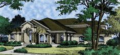 Eplans New American House Plan - Made for Luxury Living - 3144 Square Feet and 4 Bedrooms from Eplans - House Plan Code HWEPL09440