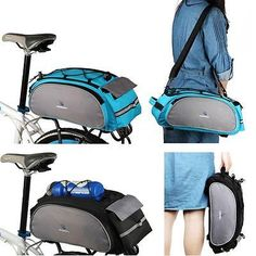 #Outdoor bicycle cycling bike frame bag rack pack #pannier #multifunctional bl…