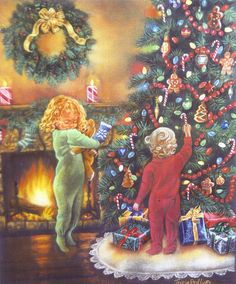 """""""Decorating The Tree""""  by Tricia Reilly-Matthews"""
