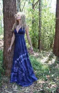 RESERVED Summer Goddess Hemp Jersey Crochet Lace Maxi by Wyldeskye, $120.00