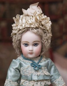 """14"""" (36 cm) RARE Antique Early Luxury French Portrait Bebe by Emile Jumeau with…"""