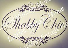 ❤️ A4 MYLAR Stencil SHABBY CHIC floral border ❤️ Fabric Furniture Glass ❤️ Floral Border, Vintage Glamour, French Vintage, Stencils, Shabby Chic, Letters, Ebay, Glass, Fabric