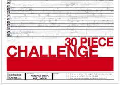 "Great incentive idea: ""Take the 30 Piece Challenge"""