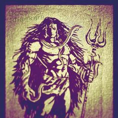 Lord Shiva first Supersayyan. Durga Goddess, Indian Paintings, Shiva Angry, Shiva, Shiva Shakti, Lord Siva, Shiva Tattoo